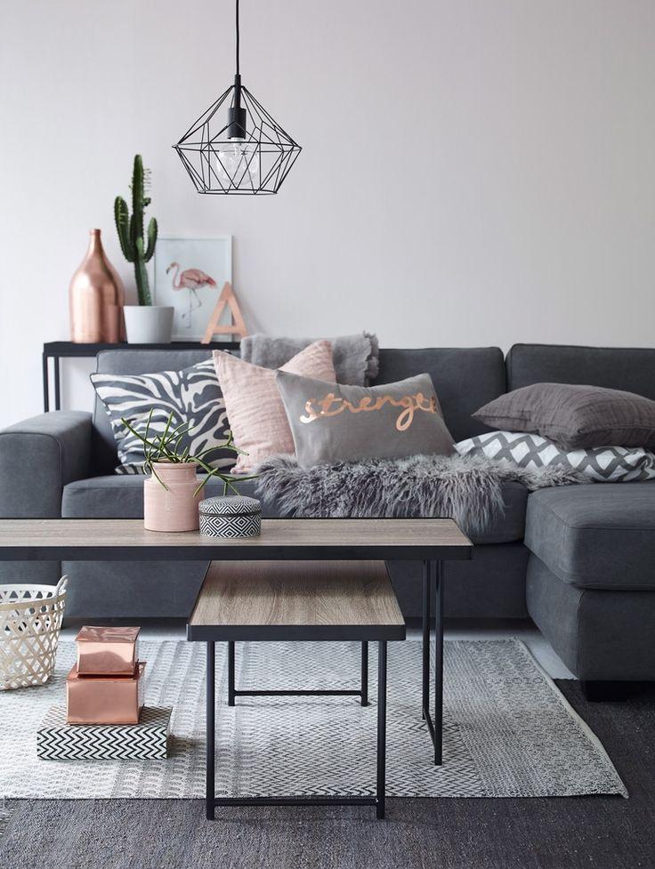 GreyxRosegold Livingroom